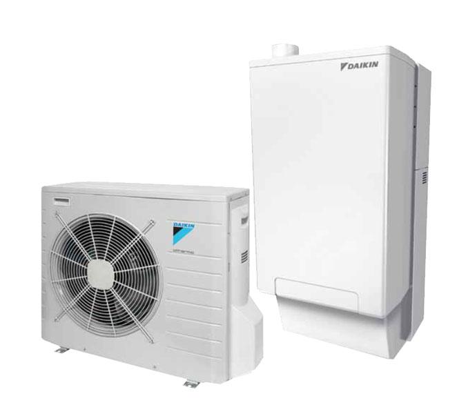 Hpu hybrid daikin caldaia a condensazione e pompa di for Asciugatrici condensazione o pompa di calore